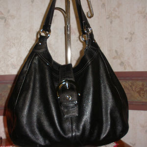 COACH SOHO LYNN F17092 Large Black Leather Hobo